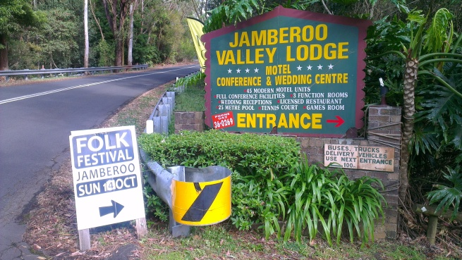 "Entrance to Jamberoo Lodge. ""Abandon all signal, ye who be with Optus and its subsidiaries."" (Long John Silver, 1756.)"