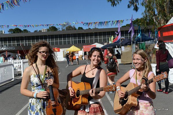 At the National Folk Festival, 2012. Image courtesy of The Miss Chiefs.