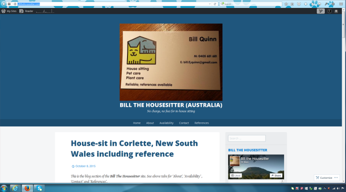 BillTheHousesitter: new site