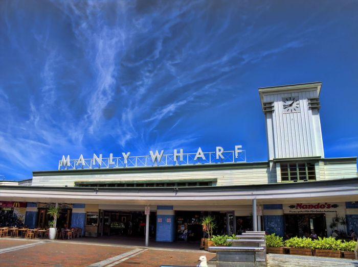 """Manly Wharf"" by Hpeterswald - Own work. Licensed under CC BY-SA 3.0 via Commons - https://commons.wikimedia.org/wiki/File:Manly_Wharf.jpg#/media/File:Manly_Wharf.jpg"